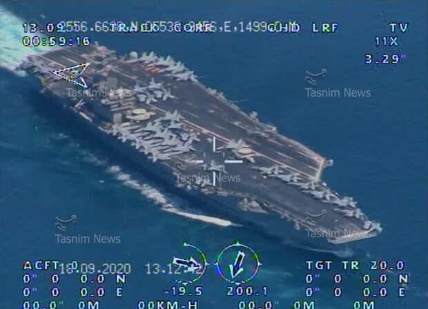 Реальный авианосец США в прицеле иранского беспилотника