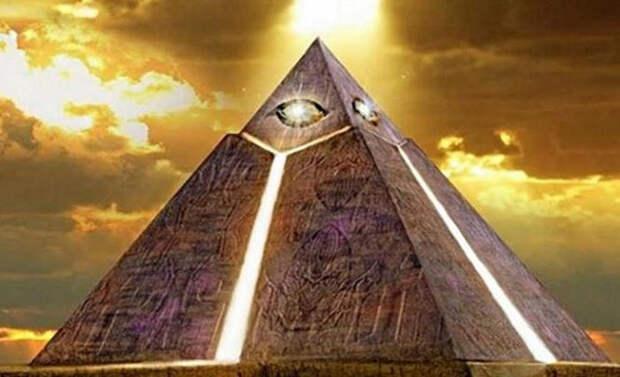 Знак Всевидящего Ока на Египетских пирамидах