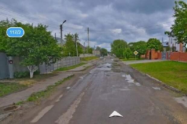 В Тамбове отремонтируют улицу Кронштадтскую