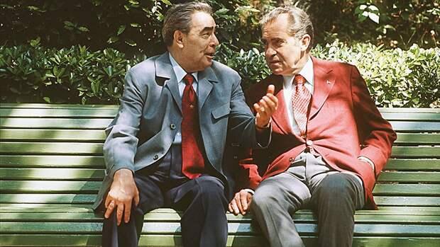 Леонид Брежнев с президентом США Ричардом Никсоном