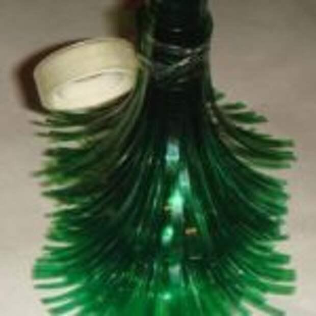 Новогодние поделки из пластиковых бутылок своими руками