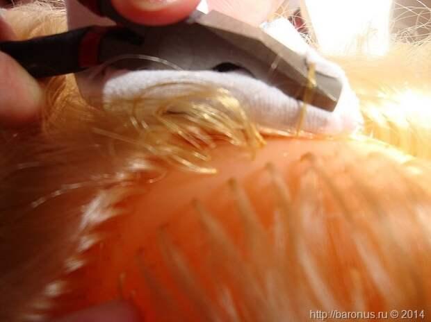 Как прошить волосы кукле своими руками