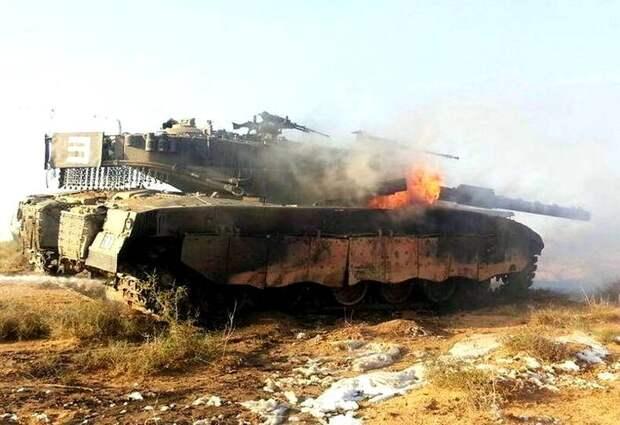 Израиль потерял «Меркаву»: загоревшийся танк «отстрелялся» боевыми патронами