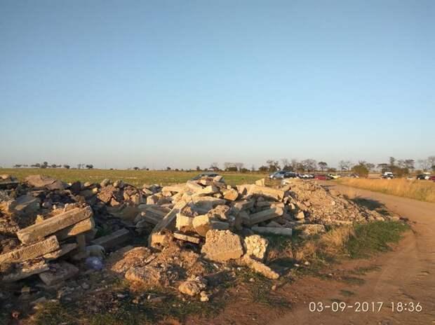 Участки севастопольцев на Красной горке захвачены под мусорный полигон