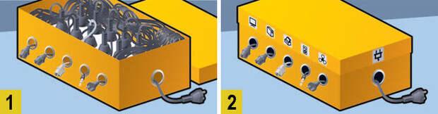 Фото №5 - Как сделать, чтобы провода не запутывались: 4 лайфхака