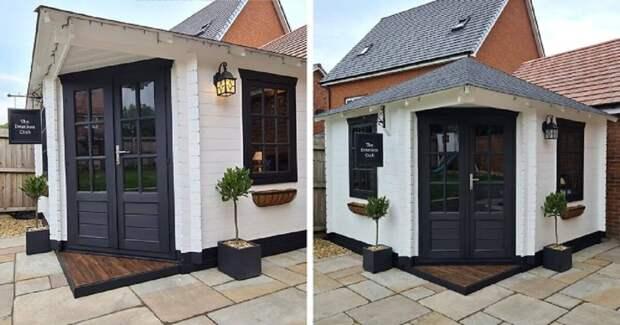 Английские супруги на карантине сами построили паб в собственном дворе