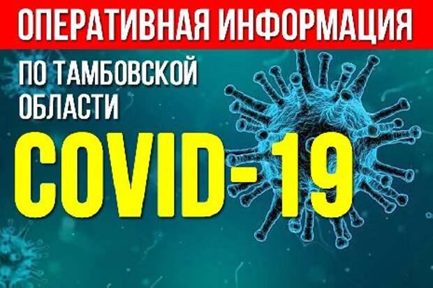 В Тамбовской области снизился суточный уровень заболеваемости коронавирусом