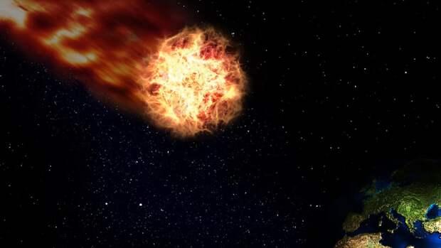 Падение гигантского опасного астероида на Землю может произойти в августе