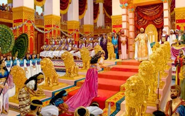 Золото царя Соломона оценивается более чем в 60 триллионов долларов. Здесь дворец царя Соломона с его золотым троном. Источник: jw.org.