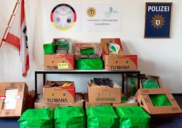 В магазины Берлина доставили 400 кг кокаина в ящиках с бананами