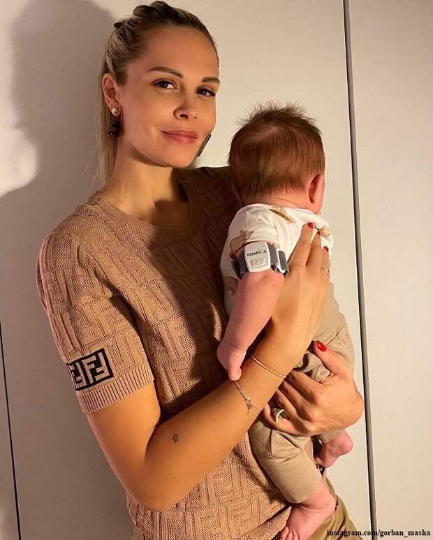 Мария Горбань накануне крестила своего двухмесячного сына