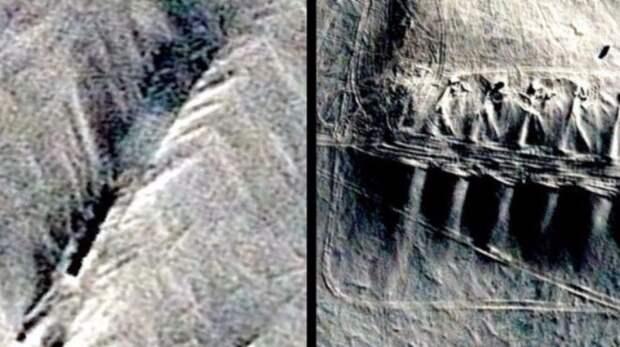 На территории Антарктиды обнаружена странная искусственная структура