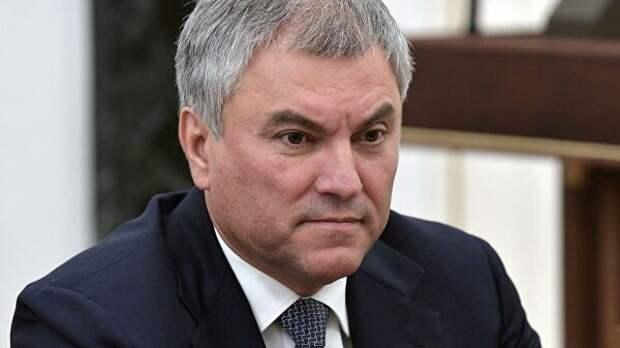 Володин прокомментировал предложение уйти от анонимности в интернете