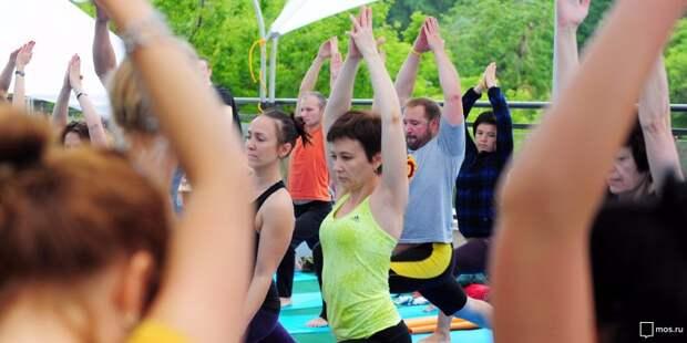 Начался розыгрыш участия в тренировке по йоге на стадионе «Динамо»