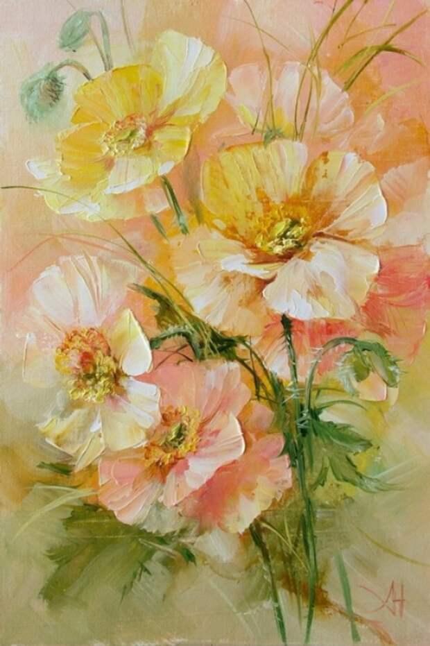 Луговые цветы. Автор: Анна Хомчик.