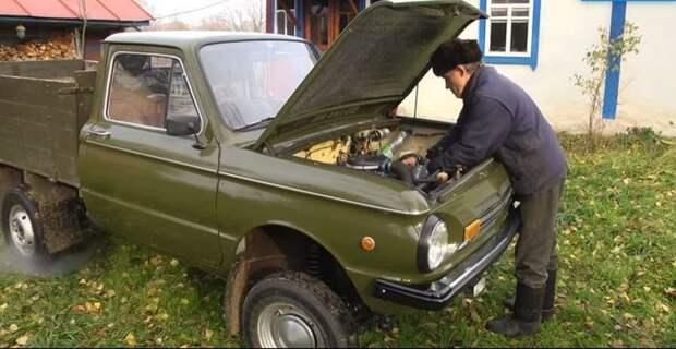 Автолюбитель создал уникальный пикап, использовав кузов от «Запорожца» авто, автомир, автомобили, заз, запорожец, пикап, самоделка, своими руками