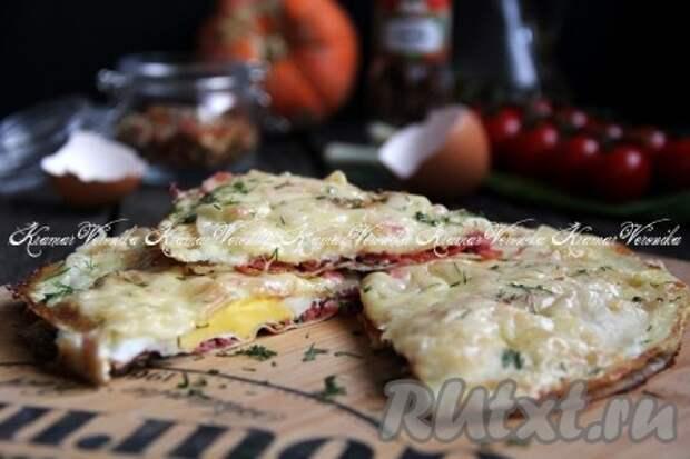 Яичница с лавашом и сыром