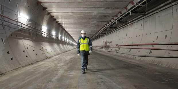 Собянин осмотрел ход строительства станции метро «Лианозово» / Фото: В.Новиков, mos.ru