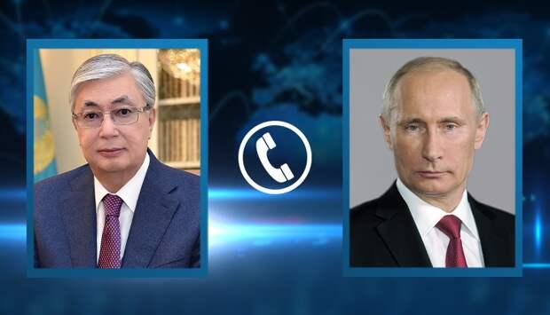 Токаев и Путин обменялись поздравлениями ко Дню Победы