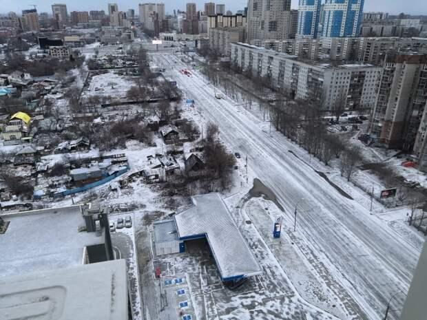 Снег в конце апреля пошел в Новосибирске