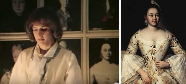 Что за картины на стене у гардемарина Никиты Оленева?