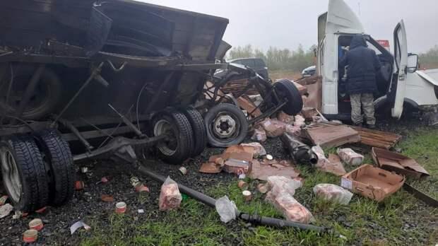 Видео с места ДТП с пятью погибшими под Красноярском