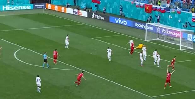 Россия забила первый гол на Евро-2020