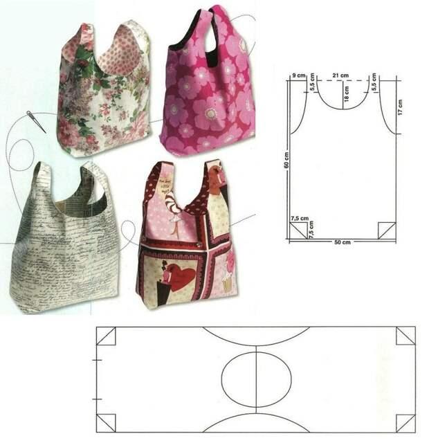 Моделирование вместительных сумочек из ткани 8