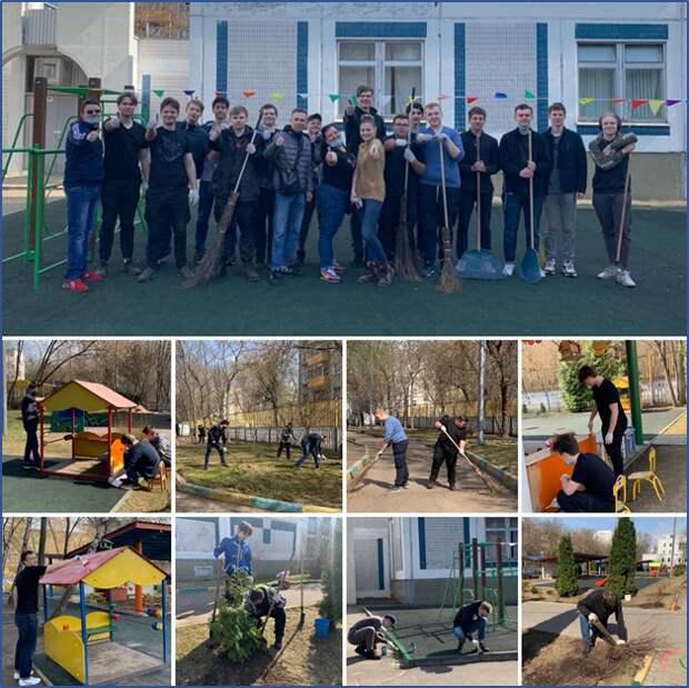 Студенты колледжа им. Павлова навели порядок в детском саду