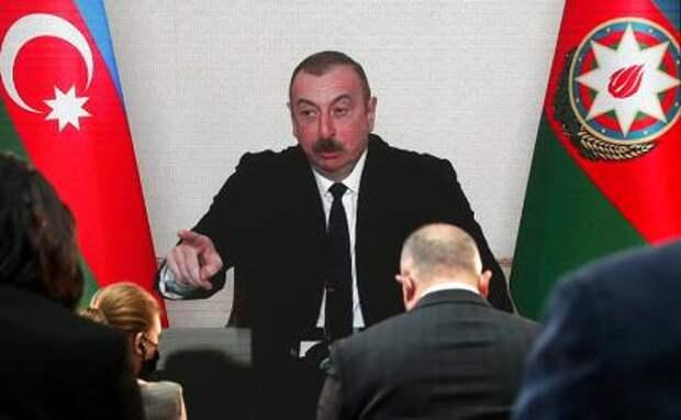 На фото: президент Азербайджана Ильхам Алиев