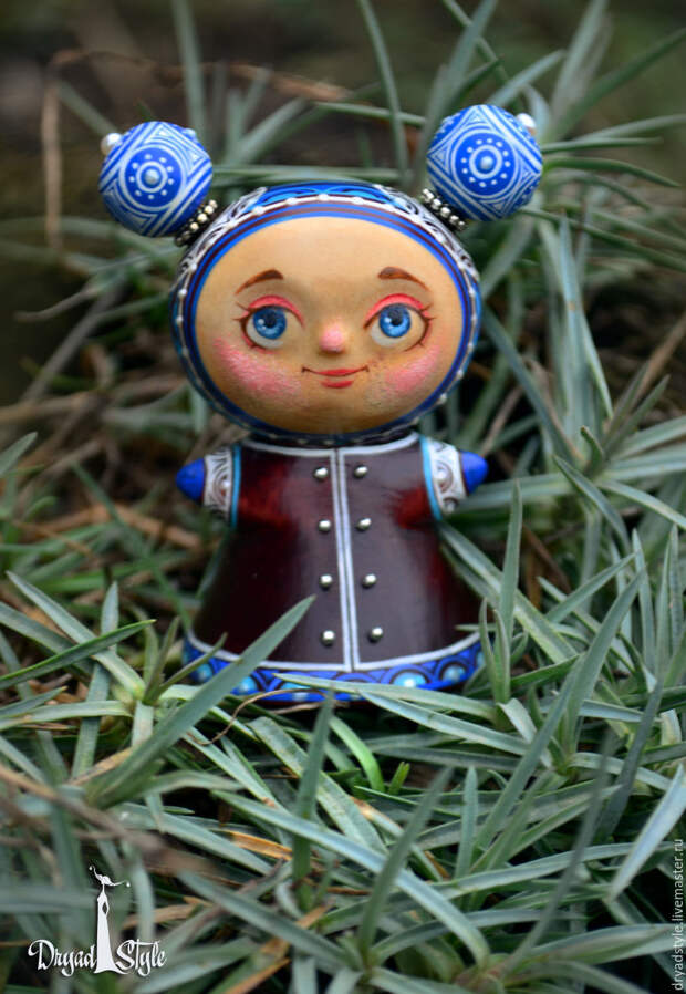 Весняна- миниатюрная , росписная куколка из дерева, Куклы, Сумы, Фото №1