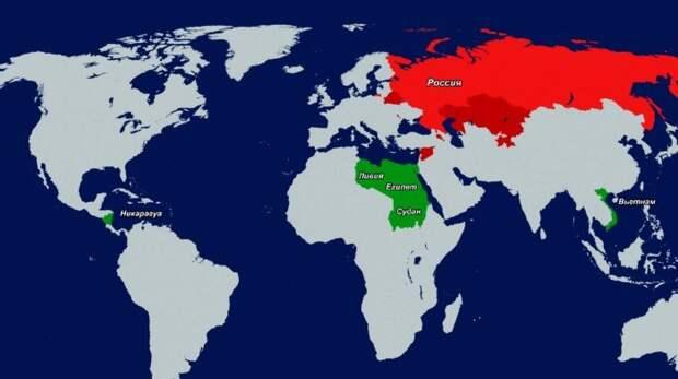 Страны, в которых Россия готовится построить свои военные базы