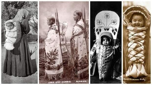 Индейцы Канады и Северной Америки интересное, младенцы, ношение, обычаи, пеленание, факты
