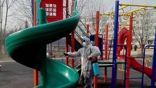 Госадмтехнадзор контролирует дезинфекцию детских площадок через приложение