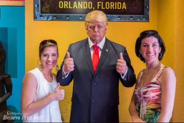 Музей восковых фигур спрятал от посетителей Дональда Трампа