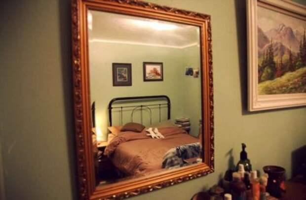 Почему не стоит спать напротив зеркала