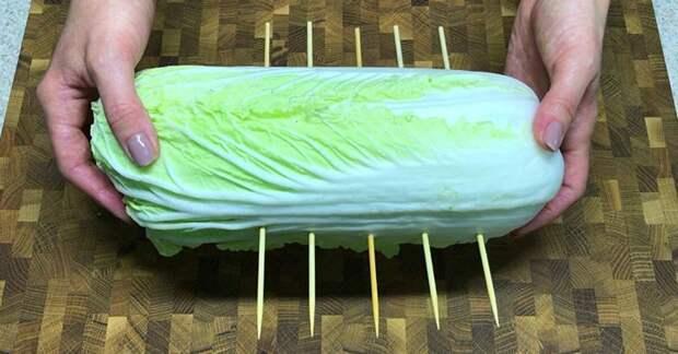 Сочный гарнир из пекинской капусты за 5 минут