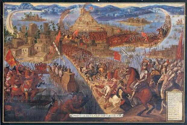 Конкистадоры против ацтеков. Часть 7. Бригантины Кортеса