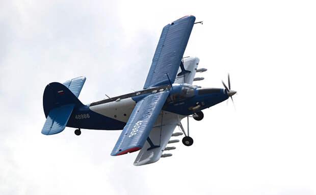 На фото: самолет короткого взлета и посадки ТВС-2МС на Международном авиационно-космическом салоне МАКС-2021.