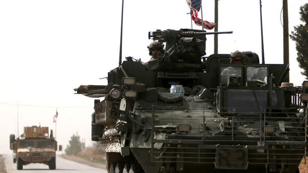 Российские военные блокировали колонну США в Сирии