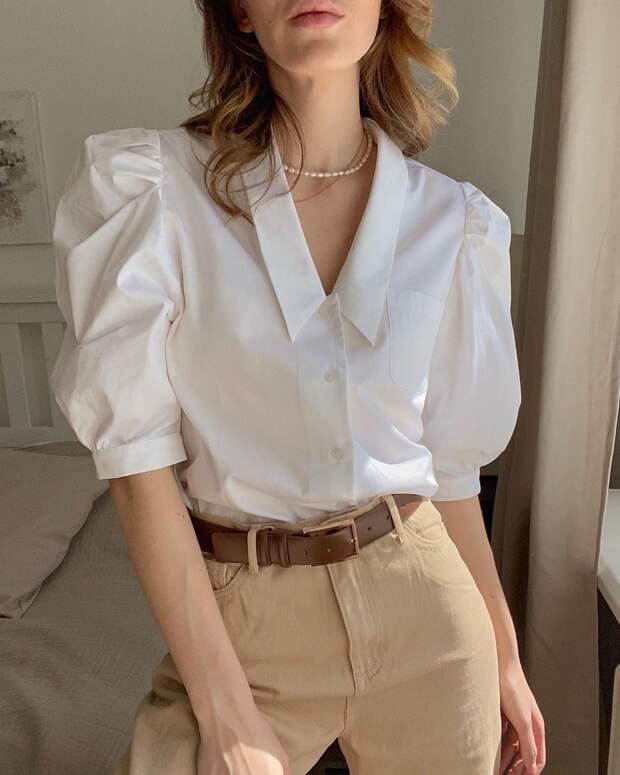 30+ актуальных примеров с чем носить белую рубашку летом