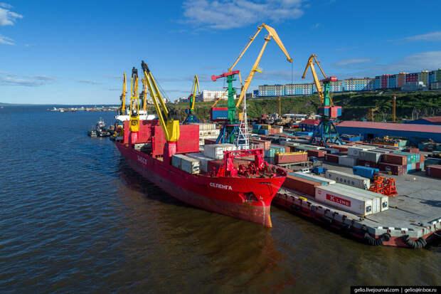 Анадырь с высоты — самый восточный город России