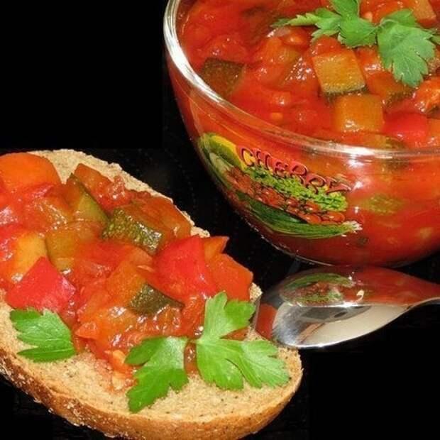 Салат на зиму из кабачков и баклажан(готовила в мультиварке)