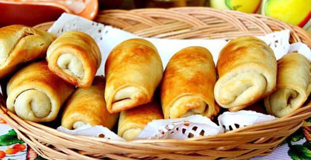 Пирожки без яиц и дрожжей с низкокалорийной начинкой