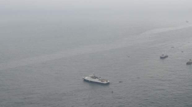 Отряд кораблей Каспийской флотилии зашел в Черное море для зачетных учений