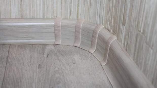 Закругленный угол — как согнуть для него пластиковый плинтус