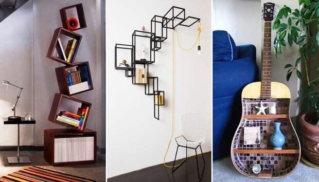 Необычные полки – идеальный предмет мебели для преображения интерьера