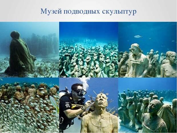 Таинственные подводные скульптуры превращаются в чудеса природы