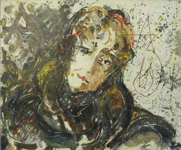 Анатолий Зверев, «Портрет О.М. Асеевой». / Фото: www.lit.lib.ru