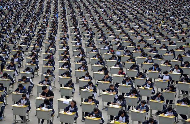 23 шокирующих фотографии о том, насколько много людей вКитае